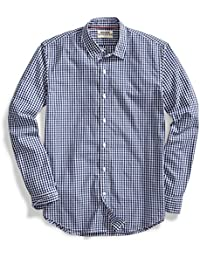 Men's Standard-Fit Long-Sleeve Gingham Shirt