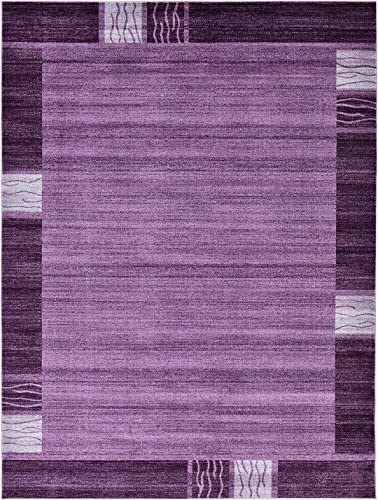 Over-Dyed Modern Vintage Rugs Purple 9 x 12 FT Palma Collection Area Rug – Perfect for Any Place
