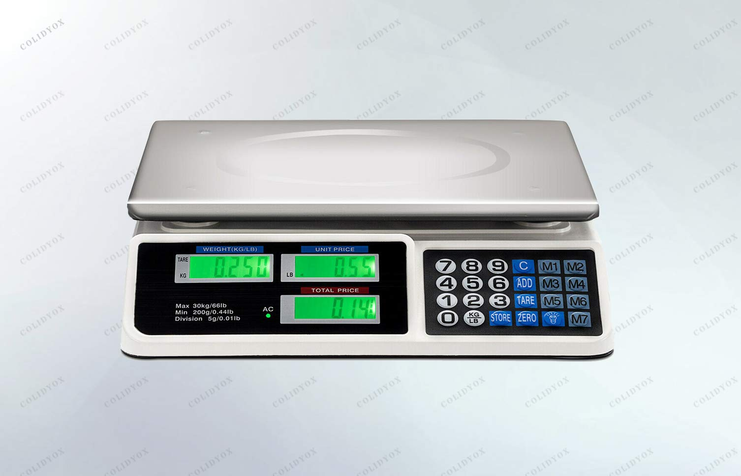COLIDYOX>>>66Lbs Digital Weight Scale Price Computing Retail This Digital Scale is a Great Choice for You, Suitable for Super Markets, Grocery Stores, Kitchens, Restaurants and Other Retail outlets.