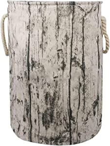 Storage Basket Bin Tree Stump with Rope Handles, Stylish Rustic Decorative and Convenient for Laundry Hamper, Kids Bedroom, Baby Nursery ¡