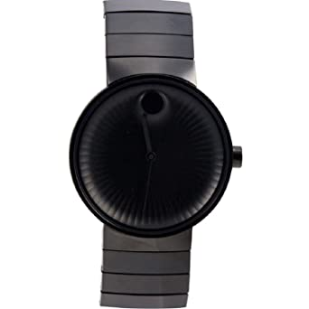 amazon com movado edge black aluminum dial swiss quartz mens movado edge black aluminum dial swiss quartz mens watch 3680007