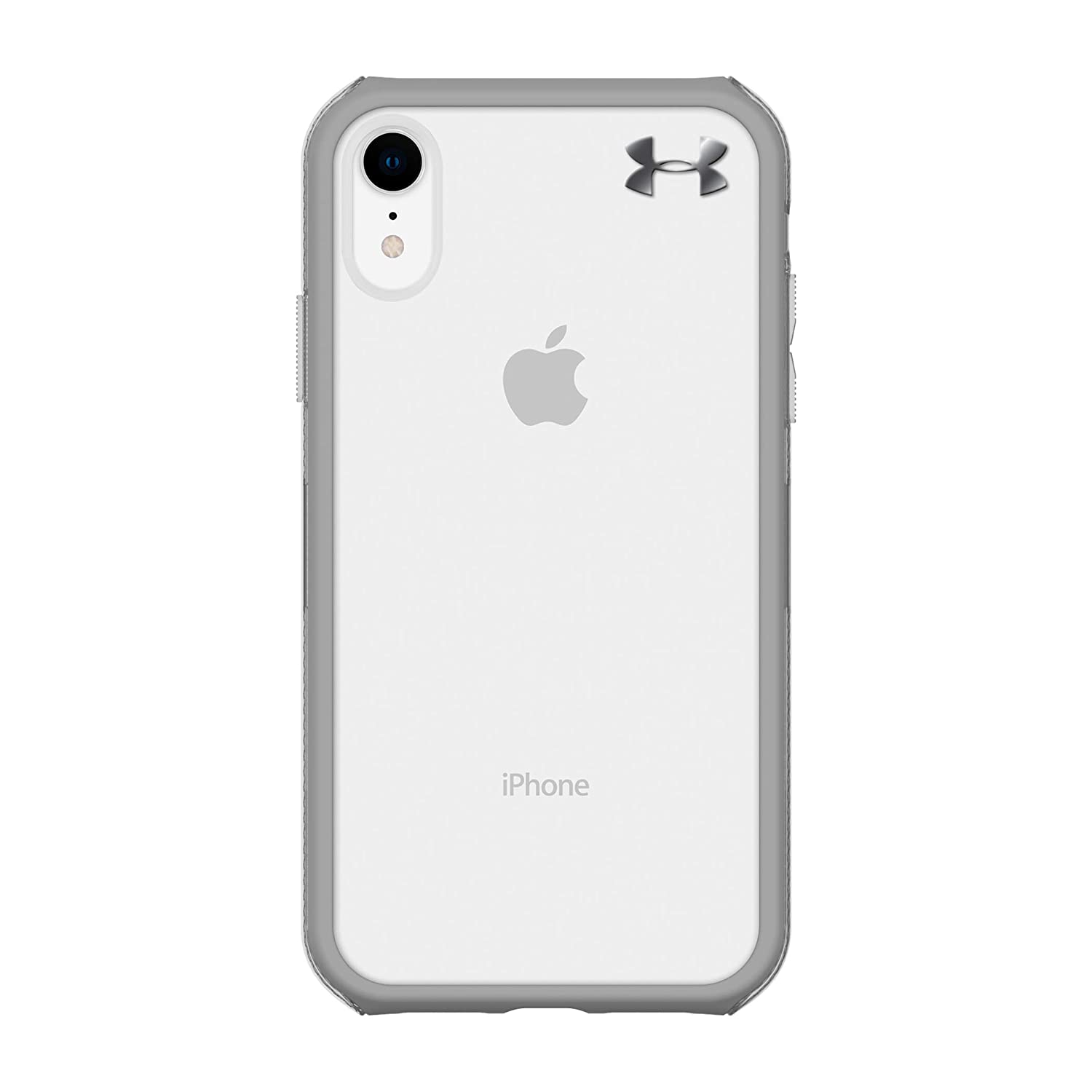 best website 94bfa 18e6e Under Armour Phone Case | for Apple iPhone XR | Under Armour UA Protect  Verge Case with Rugged Design and Drop Protection - Clear/Graphite/Gunmetal