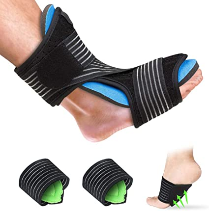 Plantar Fasciitis Night Splint Arch Support//Ankle Night Brace Effective Relieve Pain for Achilles Tendon Drop Foot Caretras Adjustable Brace Support Unisex Fits for Right or Left Foot