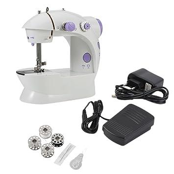 Máquina de coser, mini escritorio eléctrico multifuncional del hogar de la máquina de coser con la costura reversa delantera durable del LED: Amazon.es: ...
