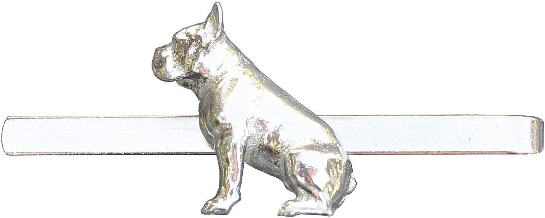 French Bulldog Tie Clip, Bulldog Tie Clip, French Bull Dog Tie Clip, Dog Tie Clip, Tie Clip, Handcast, in Fine Pewter, by William Sturt