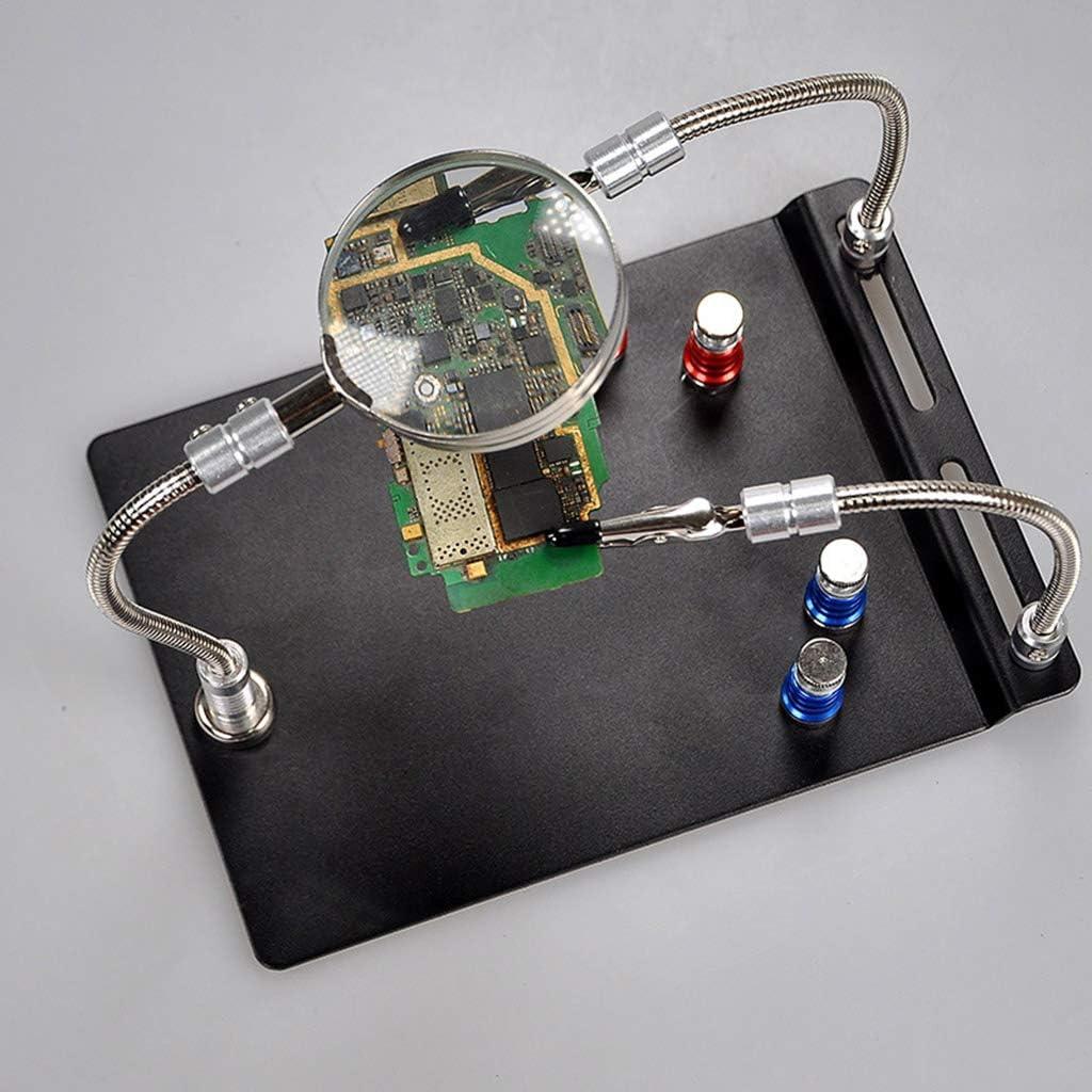Qiulip Supporto magnetico per scheda magnetica con lente dingrandimento
