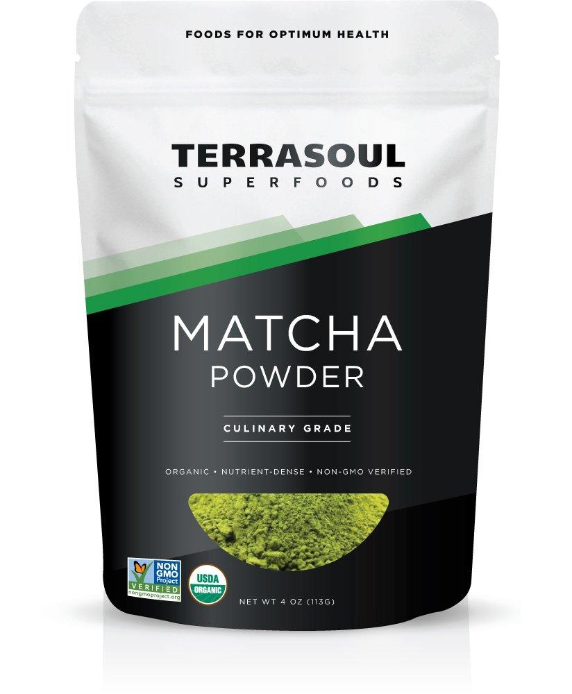 Terrasoul Superfoods Organic Matcha Green Tea (Culinary Grade), 4 ounces by Terrasoul Superfoods (Image #1)