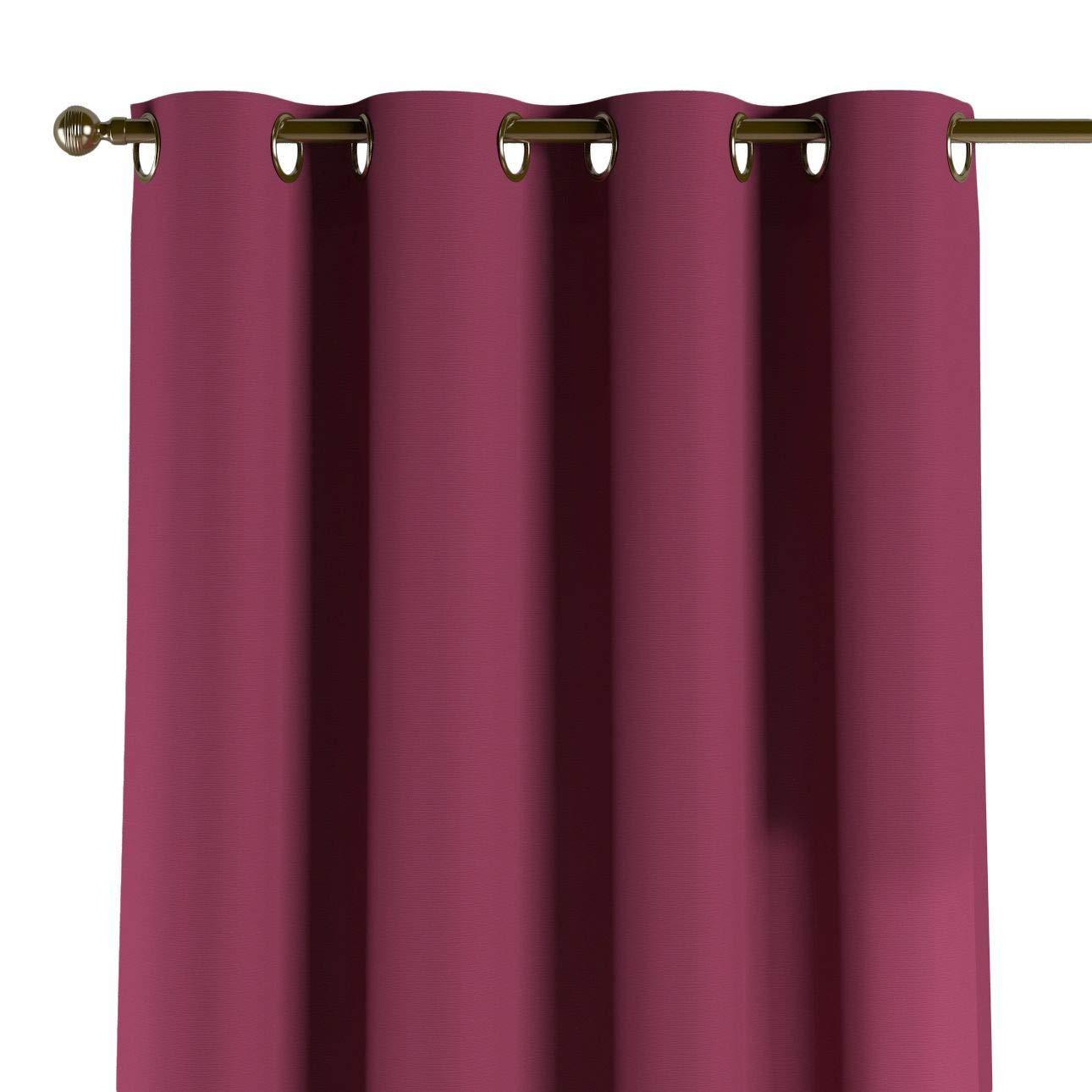 Dekoria Ösenschal Dekoschal Blickdicht 1 Stck. 130 × 260 cm Pflaume Maßanfertigung möglich