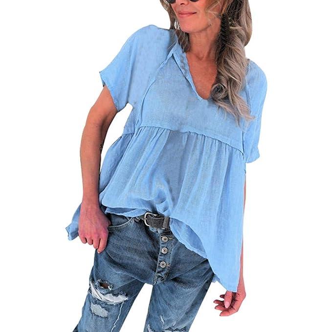 Darringls Camisetas para Mujer, Mujer Camisa de Manga Corta ...