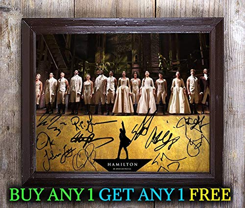 Cast A 8x10 Photo - Hamilton Cast Autographed Signed 8x10 Photo Reprint #39 Special Unique Gifts Ideas Him Her Best Friends Birthday Christmas Xmas Valentines Anniversary Fathers Mothers Day