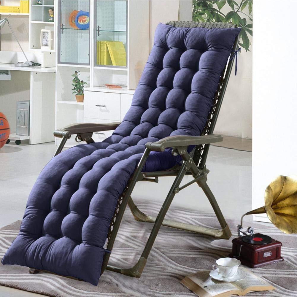 gris Coussin de Chaise Longue de Jardin 155 x 48 x 8 cm Chaise Non Incluse