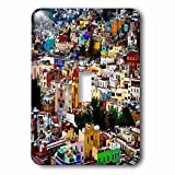 3dRose lsp_255504_1 Image of Colorful View of Guanajuato Mexico Toggle Switch, Multicolor