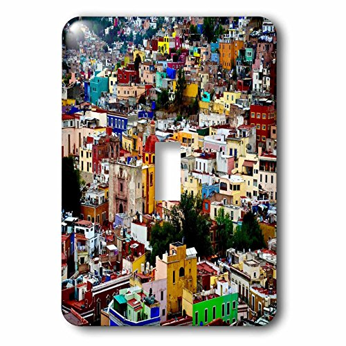 3dRose lsp_255504_1 Image of Colorful View of Guanajuato Mexico Toggle Switch, Multicolor by 3dRose