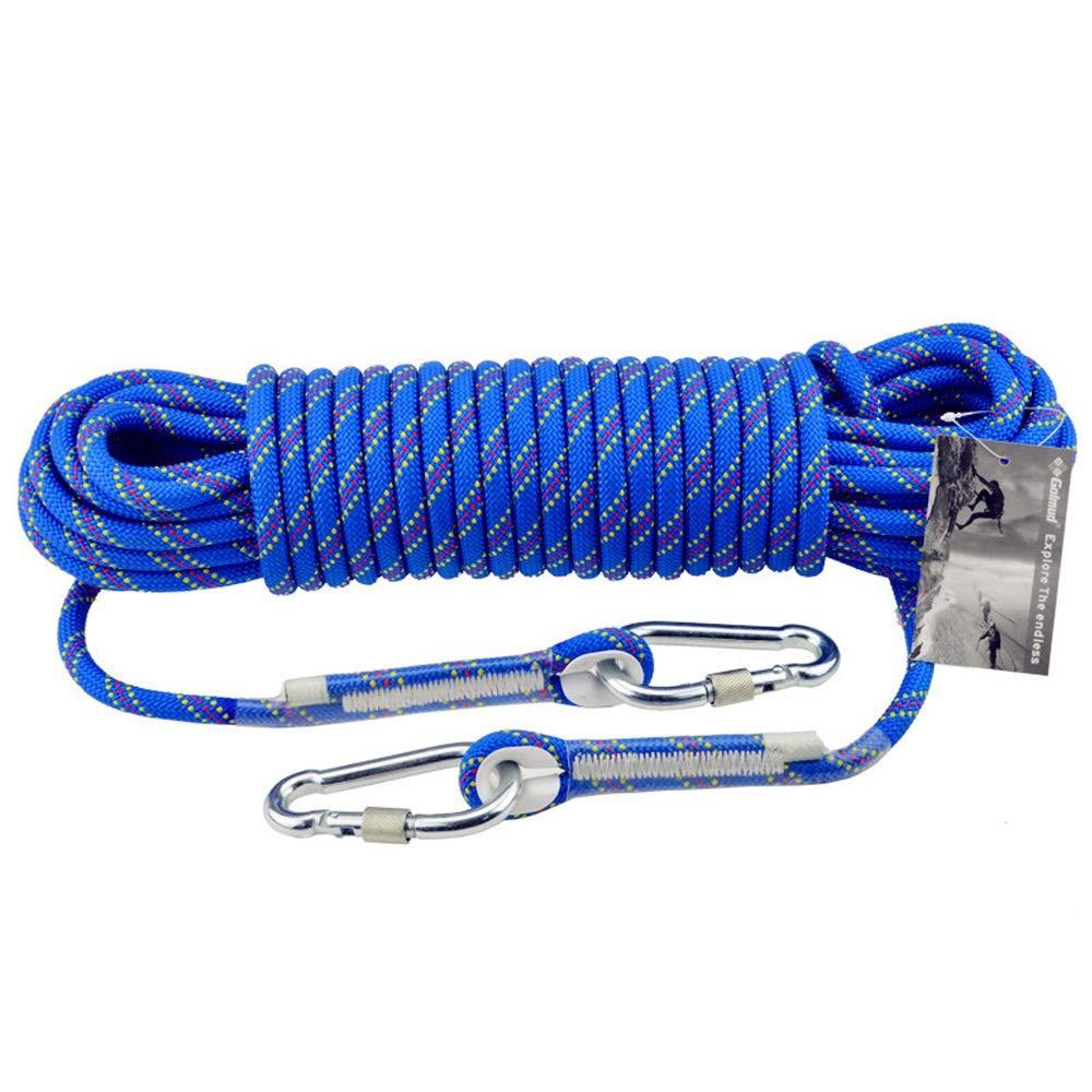 JU FU Corde de sécurité d'escalade en Plein air 10mm Corde d'escalade Lifeline Sauvetage Sauvetage Porter Corde équipement de Survie Fournitures, 13 Tailles (Taille   30M) 40M