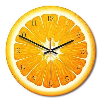 Teabelle Reloj Pared Forma de Fruta Creativo Reloj Moderno decoración de hogar Sala de Estar Cocina Comedor Dormitorio decoración Adorno de Oficina ...