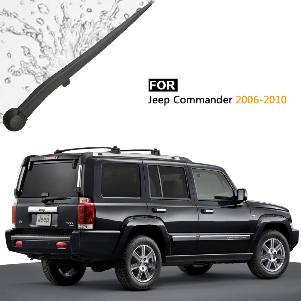 AUTOBOO for Jeep Commander 2006 2007 2008 2009 2010 Rear Windshield Wiper Arm with Blade,Blade:14 OE:5174877AA