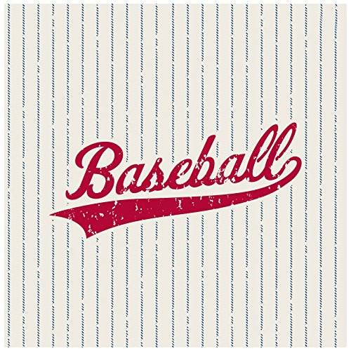Baseball Time Party Supplies - Lunch Napkins (20) (Baseball Dinner Plates)