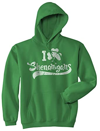 361d9fc2 I Clover Shenanigans Hoodie Funny Saint Patricks Day Sweatshirt (Green) - S