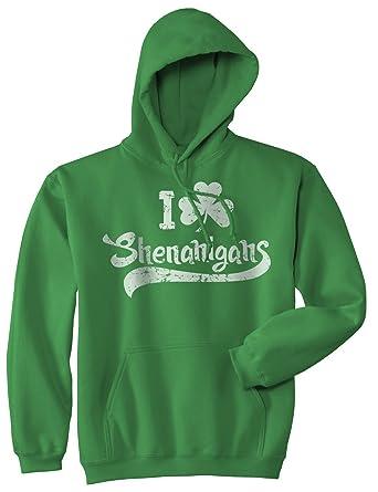 115bb7982 I Clover Shenanigans Hoodie Funny Saint Patricks Day Sweatshirt (Green) - S