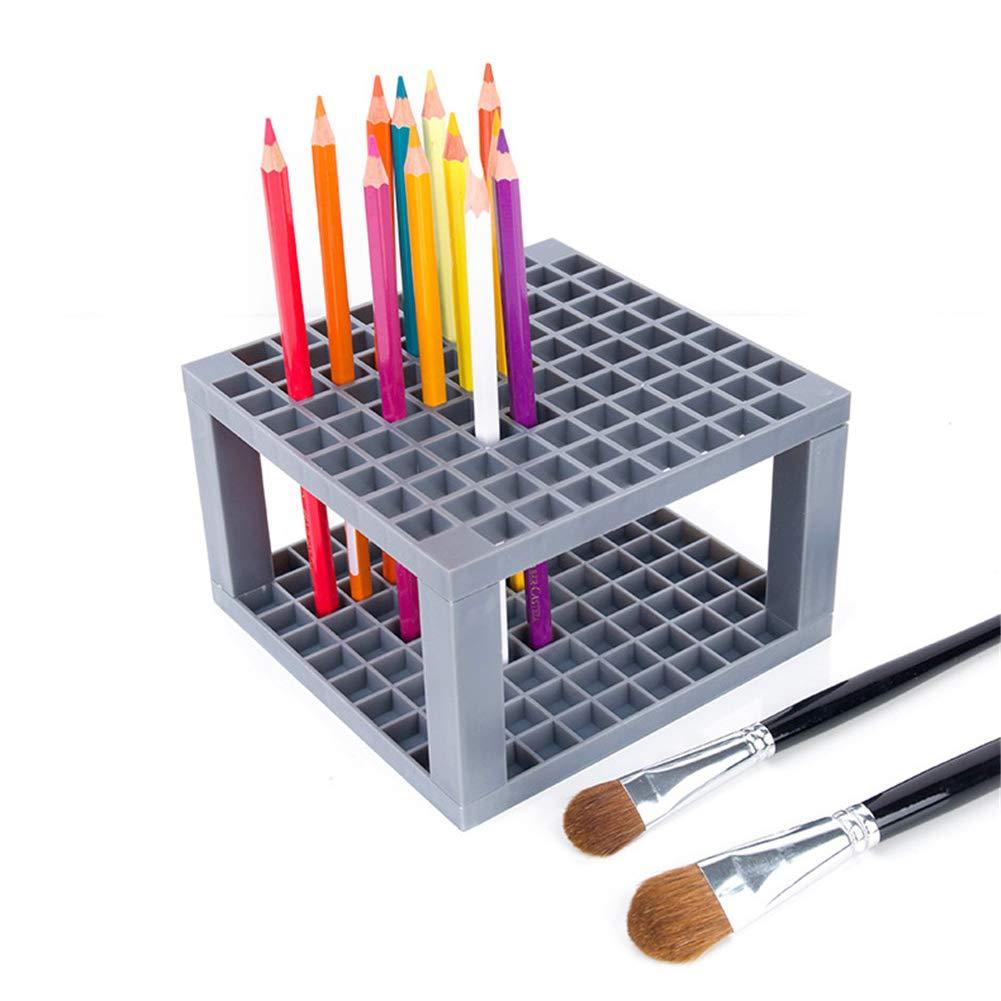 Yunhigh 96 buche penna matita portaspazzole espositore in plastica supporto da tavolo organizer per penne gel pennelli pennarelli colorati