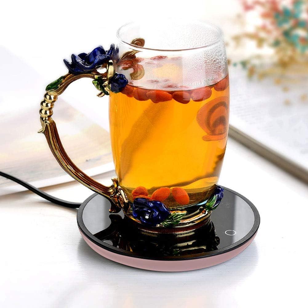 Wifehelper St/övchen Elektrische wasserdichte Touch-Heizung Tasse Matte warme Auflage f/ür Kaffee Tee Milch Getr/änkew/ärmer EU Plug 220V-#1