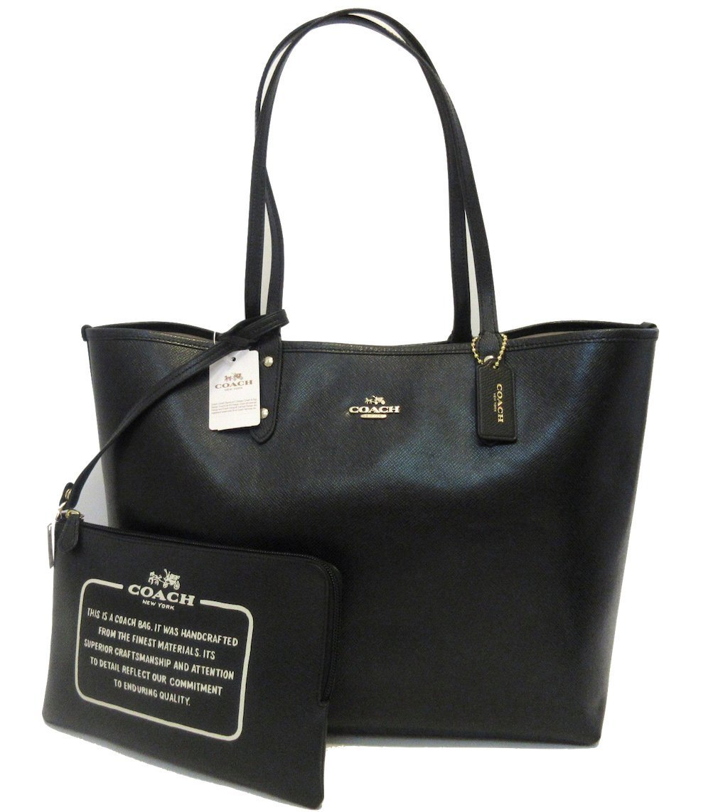 592aa5d5bfeb Coach Reversible City Tote in Bramble Rose Floral and Black -  F55866   Handbags  Amazon.com