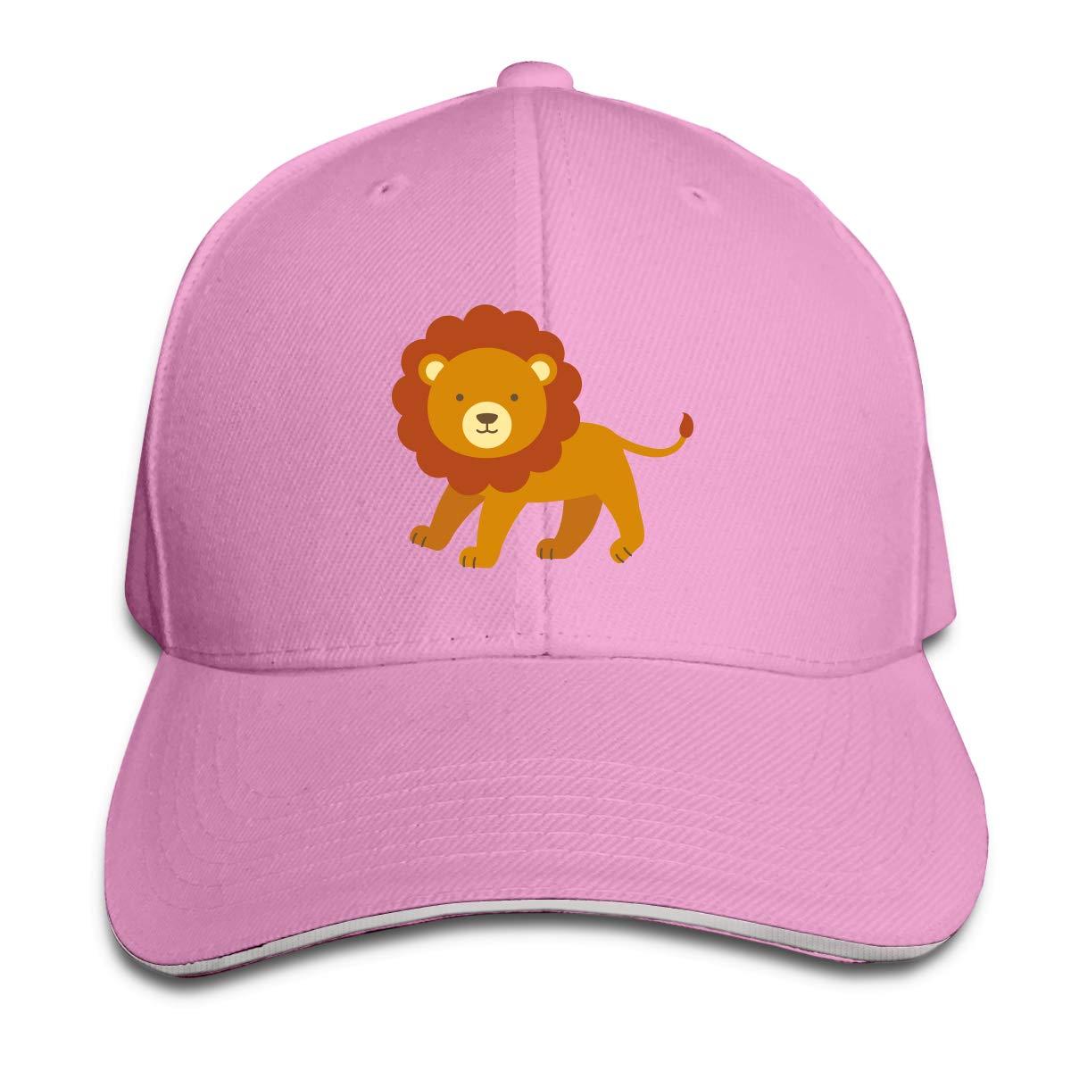 WFIRE Adult Baseball Caps Cute Lion Custom Adjustable Sandwich Cap Casquette Hats