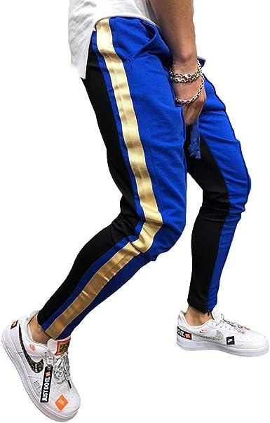 Hombre Adolescente Cintura Media Pantalones Largos Moda Color ...