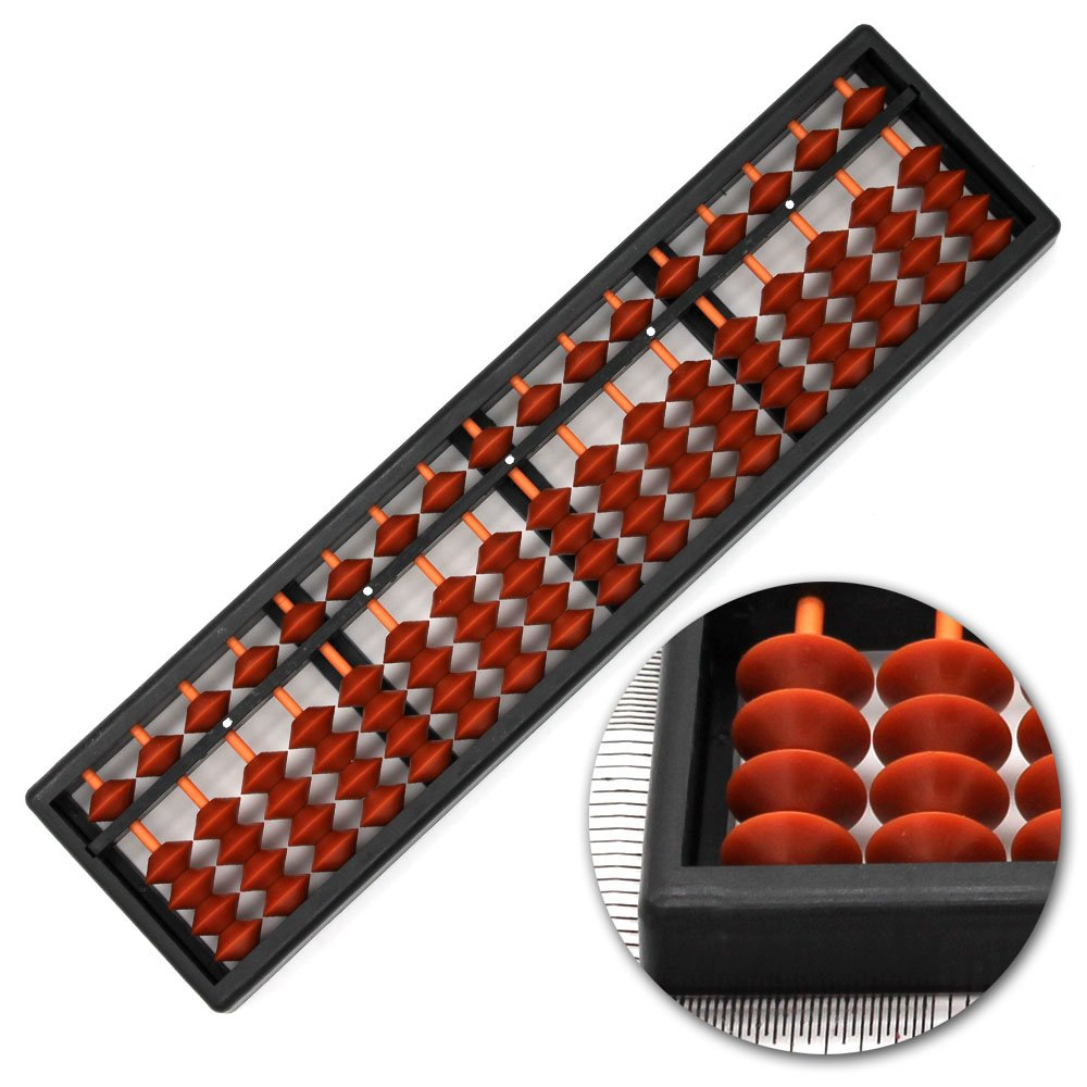 Small Classic Abacus, Soroban Calculator, 10.5 Inches, 17 Column 13.75 x 3.5 x 1 inches (35 x 9 x 2.5 centimeters) SEN