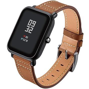 YOUBan Correa de Reloj para Xiaomi Mi Band 3, Cuero Correa la muñeca Correas Relojes