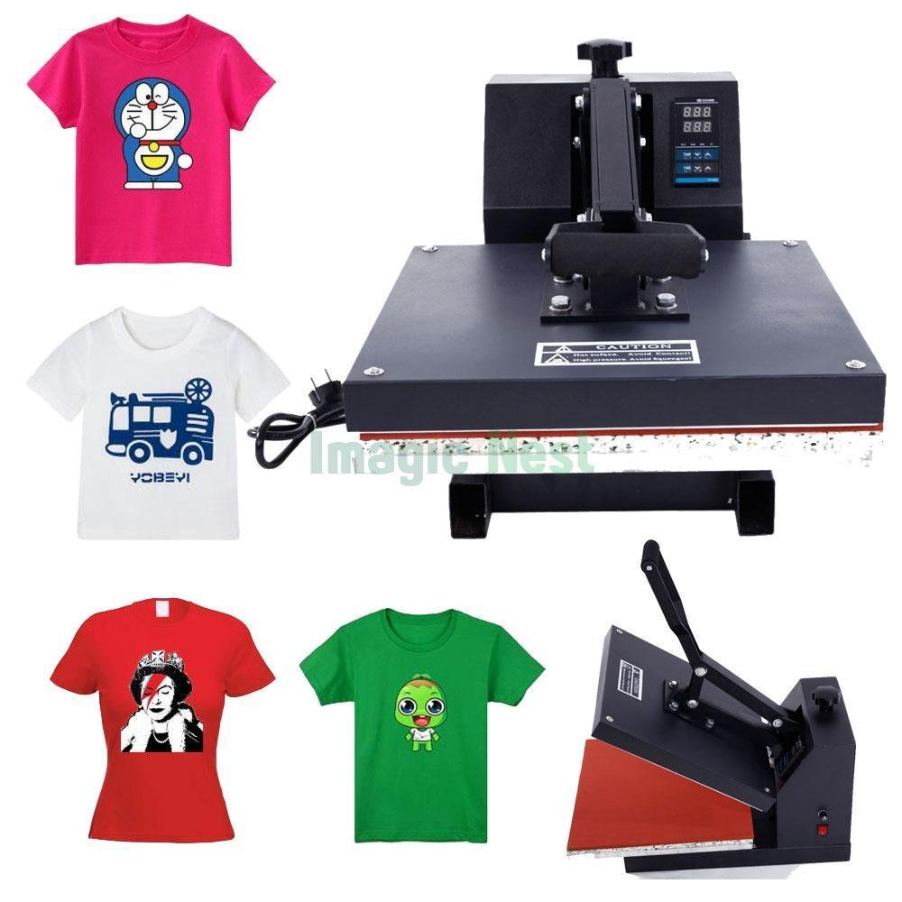 Z ZTDM Digital Heat Press Transfer Sublimation Multifunction Machine,T-Shirt/Hat/Mug/Plate/Cap Heat Press Mouse Pads Jigsaw Puzzles DIY, Curved Element with Dual LCD Timer US Plug 110V (Clamshell)
