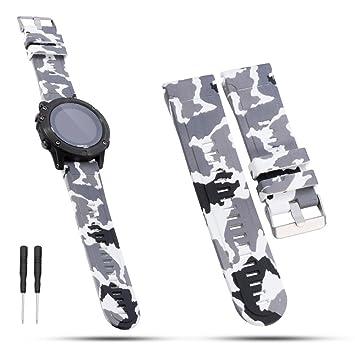 Correa de iFeeker para relojes Garmin de 26 mm de ancho, de silicona suave,