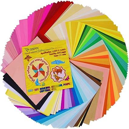 Amazon.com: Onepine - Papel de origami de 50 colores vivos ...