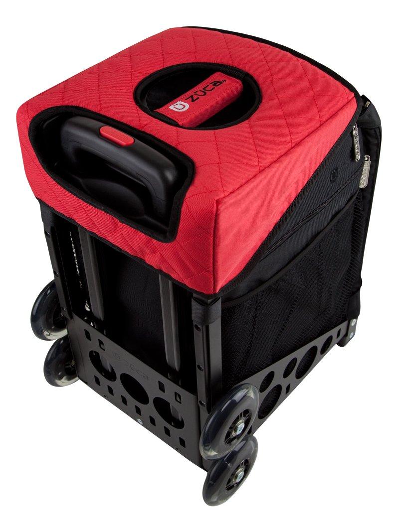 Zuca bag seat cushion- black/red