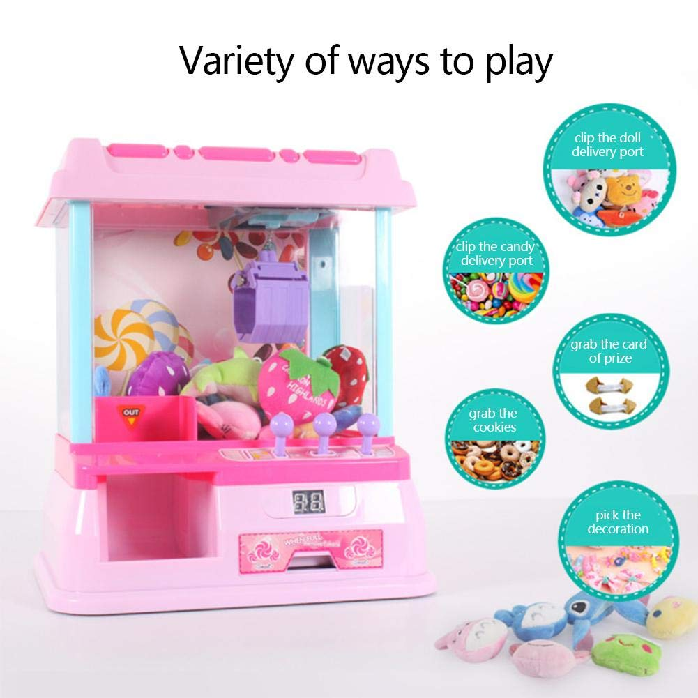 Oddity Juguetes Juego de garra Juego de garra Juego de juego para niños Mini Arcade Grabber Juguete Dispensador de dulces Juguete de grúa Reloj despertador ...