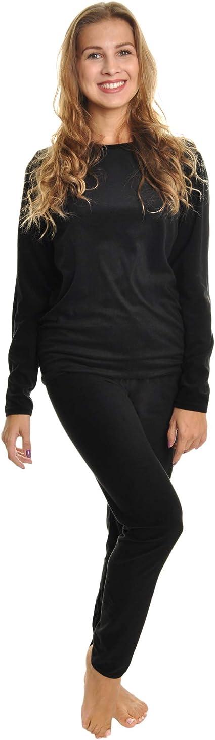 Angelina Womens Fleece Lined Long Sleeve Thermal Top