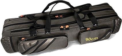 2 Fach Angeltasche Rutentasche Futteral mit Aussentaschen 80-150cm DHL Q5G9