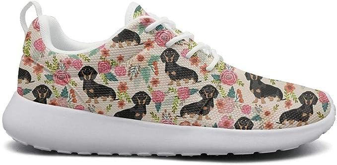 Cute Shih Tzu lap Dog Flowers Floral Gym Shoes for Men nursing Non-Slip Trail Running Shoes