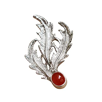 Female high-Grade Boutonniere Atmosphere Brightness Uique Design Elegant brooches Crystal Brooch Elegant Feather Accessories