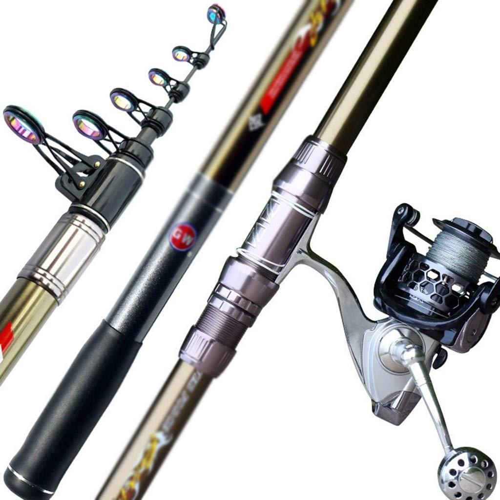 釣り竿 釣り竿 高炭素 シーロッド ポータブル 格納式 ハンド 海 デュアル使用 超微細 超軽量 超硬 ロングセクション シングルロッド 13軸 6000ホイールセット 釣り竿  4.5M/6Festival