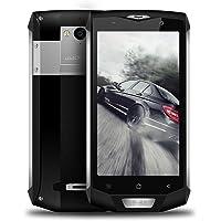 Smartphones Libre Blackview BV8000 Pro Teléfonos Móviles 6 RAM + 64GB ROM - Android 7.0 (Octa Core, 16MP Cámara, 4180mAh Batería, 5.0'' FHD pantalla, NFC, 4G) IP68 Impermeable -Argenteo