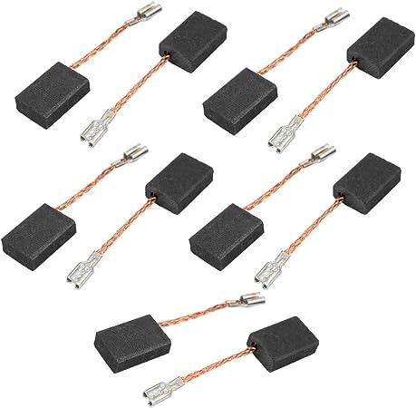 Escobillas de carb/ón 2 piezas de 16 mm x 10 mm x 5 mm de motor para taladro el/éctrico Sourcingmap