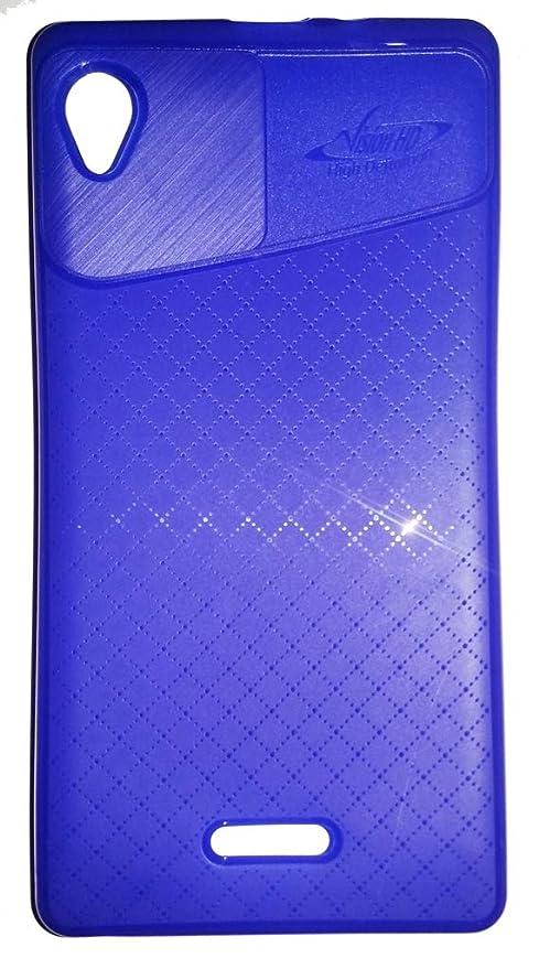 size 40 58edd 40c5f Tdrueway Shopping Store Vision HD Back Case Cover for Intex Aqua Power  HD-Blue