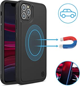 Nillkin iPhone 11 Pro Magnetic Case - [Magic Case Series] Flexible Soft TPU Anti-Scratch 360 Protective Cover [Compatible for Magnetic Wireless Charger car Mount] for iPhone 11 Pro 5.8 inch, Black