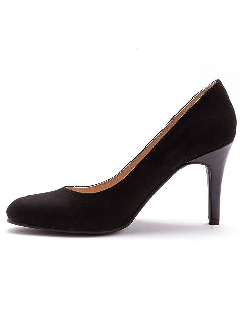 Balsamik - Escarpins largeur confort, 8cm de talon Noir