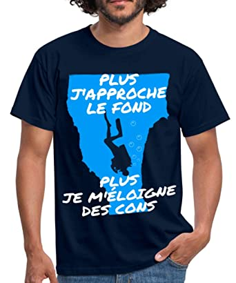 7126cd173402d Spreadshirt Plongée Plus J'Approche Le Fond T-Shirt Homme: Amazon.fr:  Vêtements et accessoires