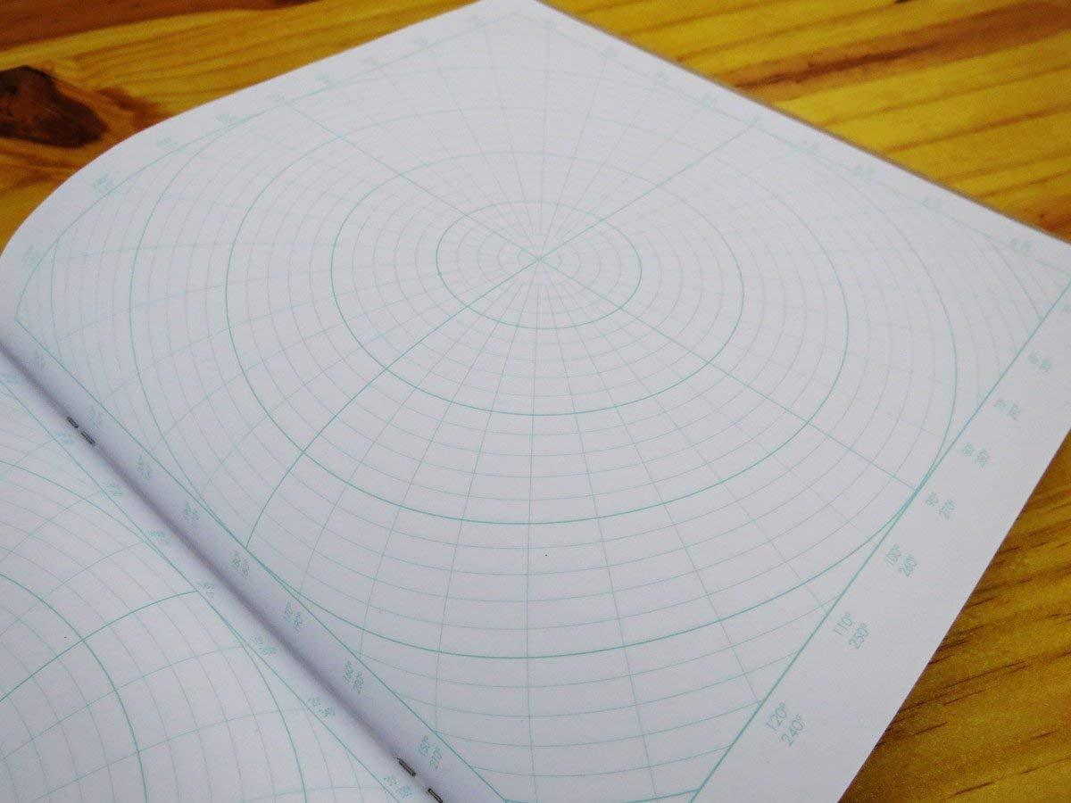 Graph Paper Notebook | 8.5 x 8.5 60 pp - Create Geometric Drawing 3 Pack Polar Coordinate - Design Circle Logo Mandala Dream Catcher Koala Tools Circular Grid