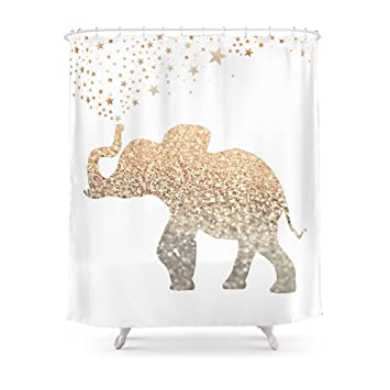 Society6 GOLD ELEPHANT Shower Curtain 71quot