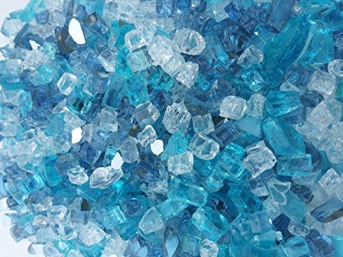 Caribbean Ice Mix Fireglass 10 Pound Bag by Fire On Glass