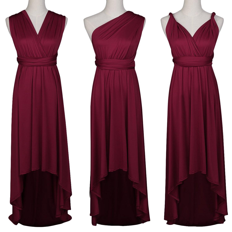 OBEEII Damen Asymmetrisches Kleid Sommer Langes Multi-tragen ...